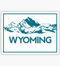 Wyoming Mountains Sticker