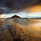Cornwall - Golden St. Michael's Mount by Angie Latham