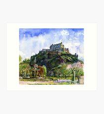 Edinburgh Castle Scotland Art Print