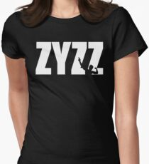 Zyzz Text White Womens Fitted T-Shirt