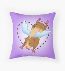Guinea Pig Angel poop Throw Pillow