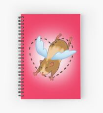 Guinea Pig Angel poop Spiral Notebook