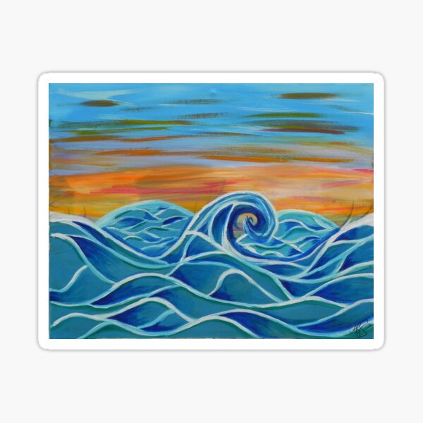 Peaceful Waves Sticker