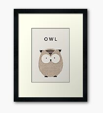 Cute Owl | Animals Framed Print