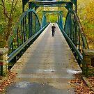 Walking Across the Garvin Bridge by Kent Nickell