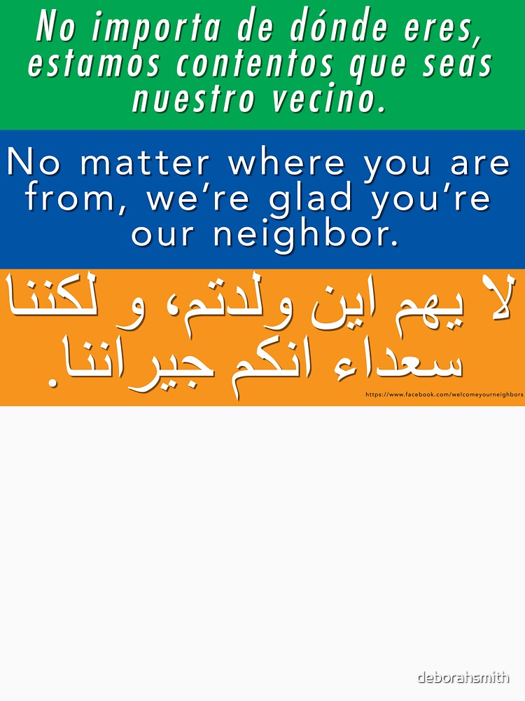 Wir freuen uns, dass Sie unser Nachbar sind - Toleranz und Willkommen von deborahsmith