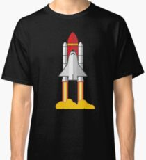 Rocket Space Shuttle Houston Classic T-Shirt