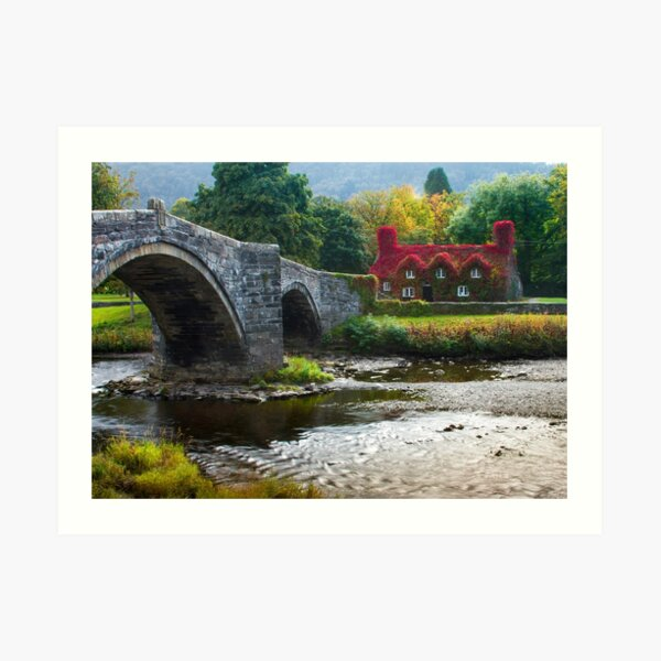Wales -  Llanrwst Cottage Art Print