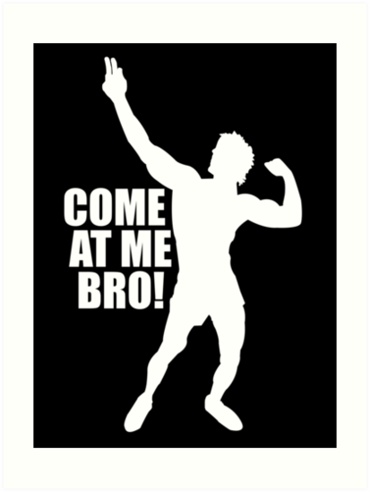 Zyzz come at me bro white by zyzzshirts