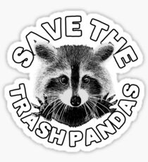 Save the Trash Pandas Raccoon Animal T-shirt Sticker