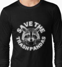 Save the Trash Pandas Raccoon Animal T-shirt Long Sleeve T-Shirt