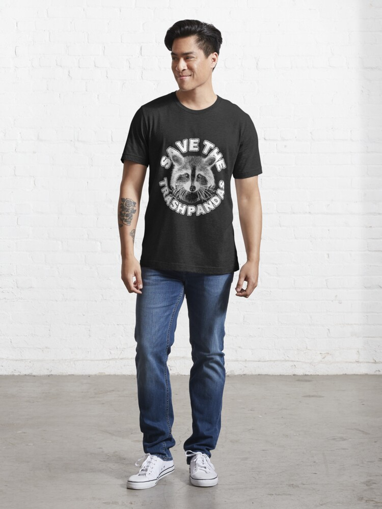 Alternate view of Save the Trash Pandas Raccoon Animal T-shirt Essential T-Shirt