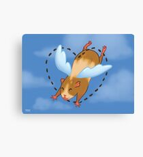 Guinea Pig Angel poop Canvas Print