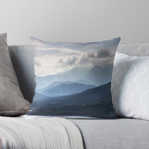 Snowdonia - Snowdon and her Sisters Throw Pillow