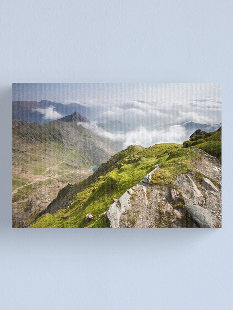 Alternate view of Wales - View from Snowdon Canvas Print
