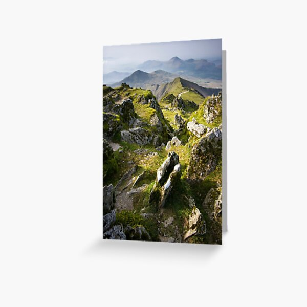 Snowdonia- View from Snowdon 2 Greeting Card