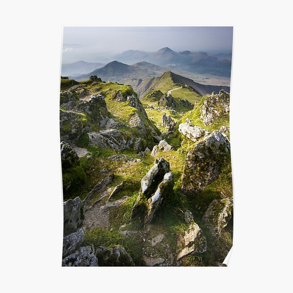 Snowdonia- View from Snowdon 2 Poster