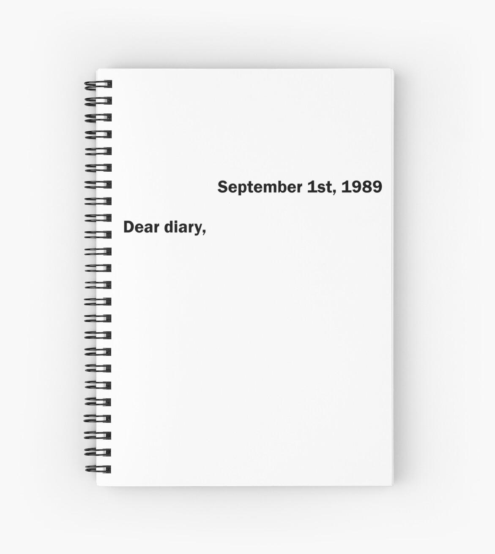September 1st, 1989 Dear diary, by Gracegudas
