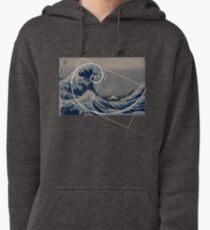 Hokusai Meets Fibonacci Pullover Hoodie