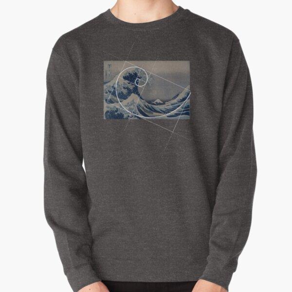 Hokusai Meets Fibonacci Pullover Sweatshirt