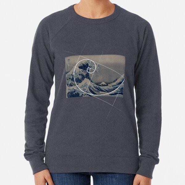 Hokusai Meets Fibonacci Lightweight Sweatshirt