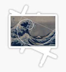 Hokusai Meets Fibonacci Sticker