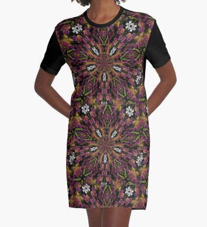Abstract Colors And Shapes Design Graphic T-Shirt Dress