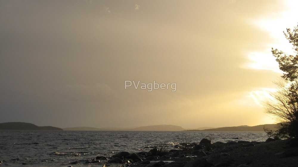 Sunset over The High Coast, Sweden by PVagberg
