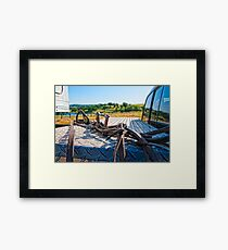 Horse bridle at the ready Framed Print