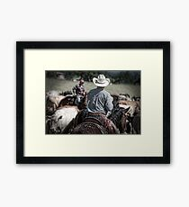 Riding herd Framed Print