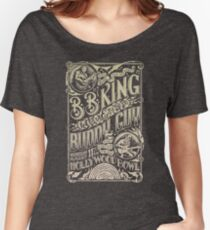 BB King Hollywood Bowl Vintage Concert Poster Women's Relaxed Fit T-Shirt