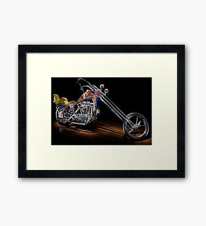 Evel Knievel Harley XLCH Chopper Framed Print