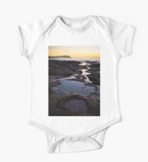 Merewether Rockpools with view to Bar Beach One Piece - Short Sleeve