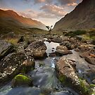 Snowdonia- Llanberis Pass Sunrise by Angie Latham