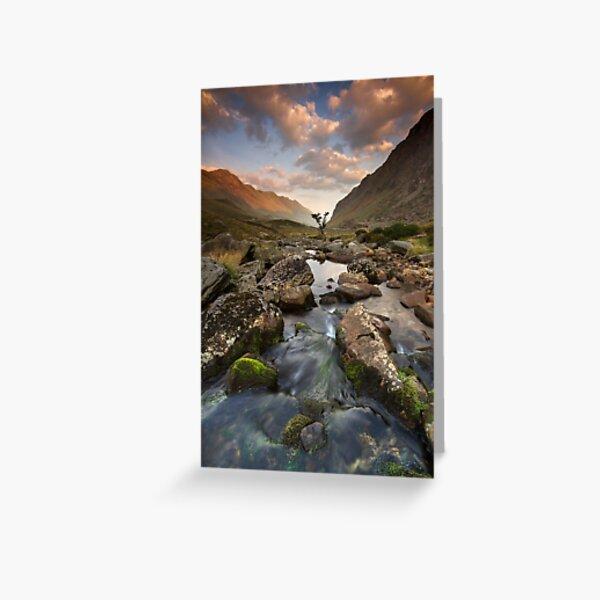 Snowdonia- Llanberis Pass Sunrise Greeting Card