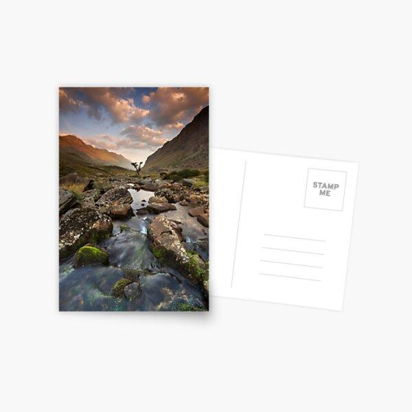Snowdonia- Llanberis Pass Sunrise Postcard