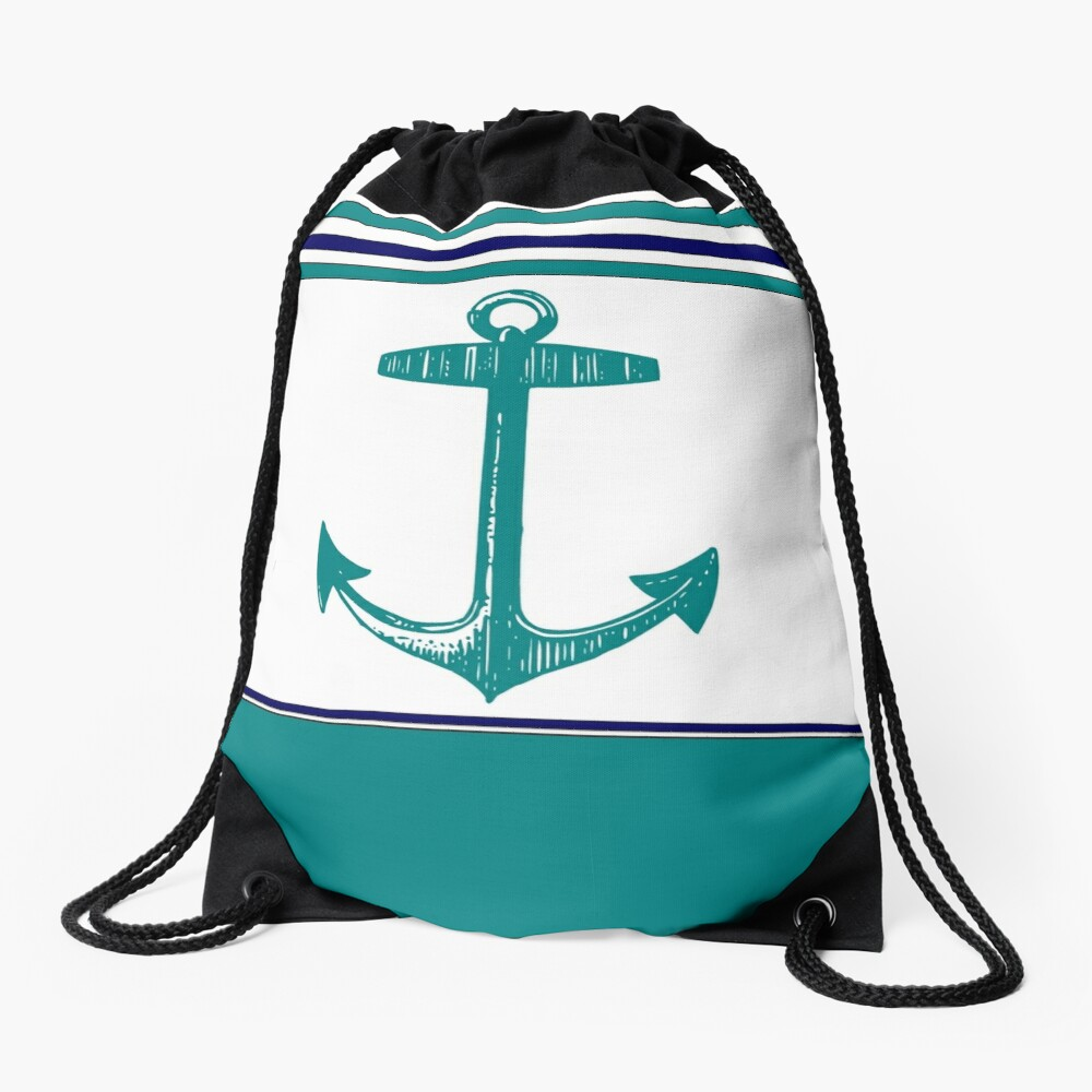 Anchor Drawstring Bag