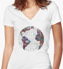 Us Against The World Women's Fitted V-Neck T-Shirt