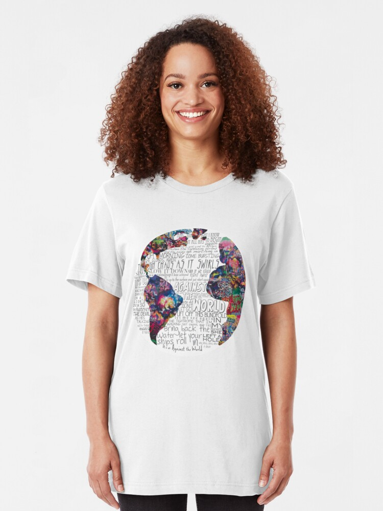 Alternate view of Us Against The World Slim Fit T-Shirt