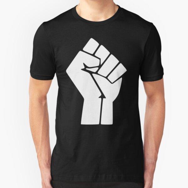 Schwarz lebt Materie Logo Slim Fit T-Shirt