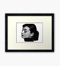 Audrey Profile Framed Print