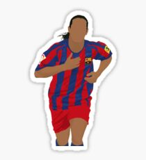 Ronaldinho Minimalist Art Sticker