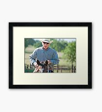 Riding Proud Framed Print