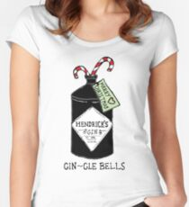 GIN-gle bells Women's Fitted Scoop T-Shirt