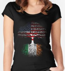 American Grown, Irish Roots Women's Fitted Scoop T-Shirt