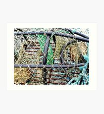Old Nets and Lobster Pots, Mullaghmore, Sligo, Donegal, Ireland Art Print