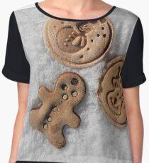 Xmass cookies Women's Chiffon Top