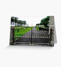 The Gates of Classiebawn Castle, Mullaghmore, Sligo, Donegal, Ireland Greeting Card