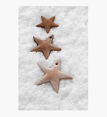 Christmas stars cookies Photographic Print