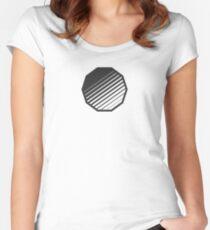 Minimal Geometric Shape // Dark Variant Women's Fitted Scoop T-Shirt
